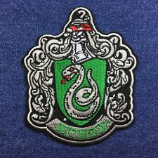 Harry Potter Slytherin Wizard 11cm x 9.5cm Embroidered Patch - Iron-on / Sew-on