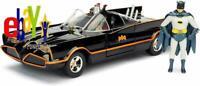 JADA TOYS DC COMICS 1966 Classic TV Series Batmobile Batman And Robin Figures