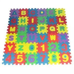 36Pcs Kids EVA Foam Learning Alphabet ABC Floor Play Mats Tiles Letters