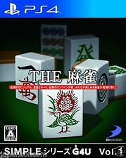 SIMPLE Series G4U Vol.1 THE Mahjong SONY PS4 PLAYSTATION JAPANESE NEW JAPANZON