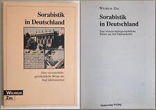 Zeil Sorabistik in Germany A history of science Balance sheet 1996 xz