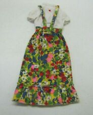 Vintage Barbie BEST BUY #8620 MULTICOLOR FLORAL JUMPER DRESS w/ ATTACHED BLOUSE
