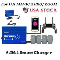 For DJI MAVIC 2 PRO/ ZOOM 6-IN-1 Battery Charger With USB Charging Station
