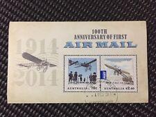 AUSTRALIA 2014 AIR MAIL 100TH ANNIVERSARY MINI SHEET C.T.O