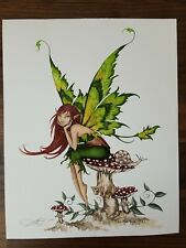 "Amy Brown ""Thinking of You"" Mushroom Fairy Print - 8 x 10"""