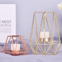 Geometrische Kerzenleuchter Metall Eisen Kerze Halter Hochzeit Wohndeko Nordisch