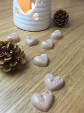 Christmas Scented Wax Melts, Chocolate Orange Hearts with Glitter, Soy Wax Melts