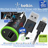 Belkin Ultra Fast 2.4amp USB Car Charger with Sync Cable for iPhone 6 6 Plus 5/s