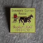 Vintage Pin Brooch Shriners Enamel Masonic Medal 1983 Jackson Hole Cutter Races