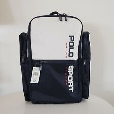 Polo Sport Ralph Lauren Spell Out Backpack VERY RARE Vintage NWT Navy White 90s