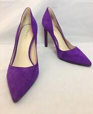 NINE WEST TATIANA Suede Leather Court Stiletto Heel Shoes Purple 8UK 41EU 10US
