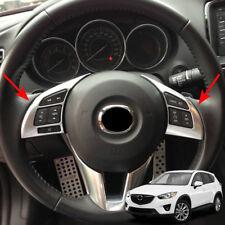 Chrome Steering Wheel Switch Button Panel Cover Trim For Mazda Cx-5 Cx5 2013-16