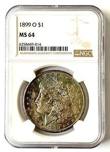 1899-O Morgan SILVER Dollar - NGC MS64 - RAINBOW TONER
