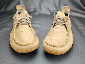 Patagonia Men's Skywalk Lace Up Moccasin Walking Shoe in Honeydew Beige Sz 9.5