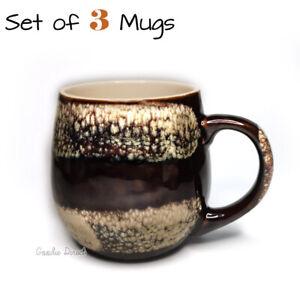 Set of 3 Mugs Reactive Glaze Mug Dunelm