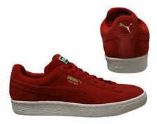 Puma Suede Classic + Lace Up Red Mens Trainers Low Top 356568 63 B101C