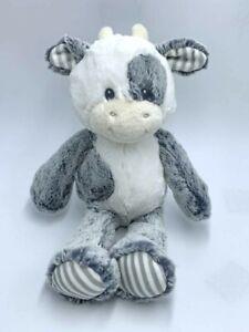 "NEW Aurora Baby Gray White Stripe Coby Cow Plush Stuffed Animal 15"" Toy"