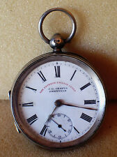 Solid silver Pocket watch 1899 by J G Graves