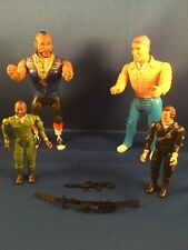 Lot Of 4 Vintage A-Team Action Figures 1983 B.A.Baracus Face Hannibal Extras