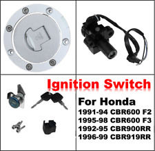 Ignition Switch Fuel Gas Cap Cover Key Lock Set For Honda CBR600 F3 1995-1998 96