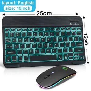 Best & Easy Rechargeable Wireless Keyboard Mouse Mini Backlight Keyboard for PC