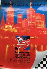 Jean Alesi and Johnny Herbert Hand Signed Australian Grand Prix 1997 Poster.