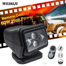 WEISIJI 1Pcs 60W Wireless Led Marine Search Light Cree Chips Remote Control Spot