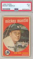 1959 TOPPS BASEBALL MICKEY MANTLE CARD #10 PSA 1 (494)