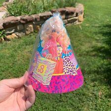 Vintage 1990's Reed Paper Shopper BARBIE 12 Paper Party Hats Deadstock NIP