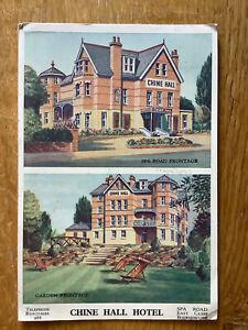 Vintage Postcard, Bournemouth, Chine Hall Hotel, Spa Road, 1942
