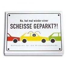 SCHEISSE GEPARKT - Haftnotizen für die Windschutzscheibe (Notebook / blank book)