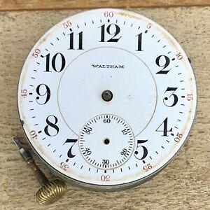 18s Waltham Pocket Watch Movement - Grade No. 845. - 21 Jewels, 5 Positions