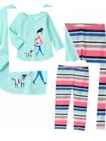 Gymboree Long Sleeve Top & Legging Set Outfit Girls Size 6 12 18 24 3t