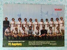 Mannschaftsbild mit Autogrammen FC AUGSBURG 74/75-für Fans/Geschenk-Idee-(B112)