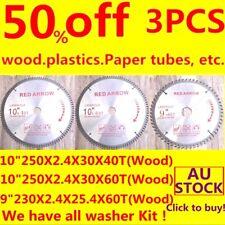 "3PC Carbide Tipped Circular sawblade 10inch250mmX40T/60T+9""x60T TCT Wood plastic"