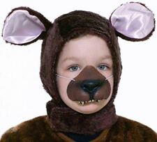 Forum Novelties Child Size Animal Costume Set, Brown Bear Hood and Nose Mask by