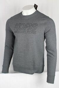 Michael Kors Men's Crew Neck Long Sleeve Sweatshirt Size Medium Ash Melange