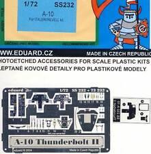 eduard A-10 Thunderbolt II Etched parts 1:72 model kit Revell Cockpit set paint