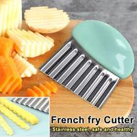 Wavy Stainless Steel Potato Slicer Vegetable Chopper Cutter Kitchen Gadgets