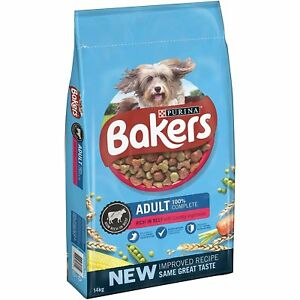 Bakers Complete Adult Dog Dry Food Purina Beef and Country Veg 14kg Free P&P NEW