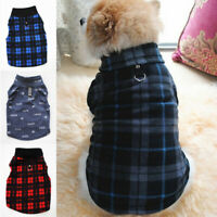 Small Pet Dog Warm Fleece Vest Clothes Coat Puppy Shirt Sweater Winter Apparel