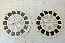 KUNG FU VIEWMASTER REELS 1 & 3 SET B598 VINTAGE 1974 RARE ABC TV   X157