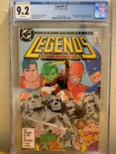 DC Comics Legends #3 CGC 9.2 NM- WHITE PAGES 1st New Suicide Squad HOT!!!