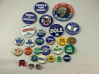Vintage Political Pinback Lot 1960's -1990's Perot McGovern Bush Dempsey Jackson