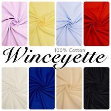 Plain Winceyette Flannelette 100% Brushed Cotton Rag Quilt /Warm Sheet Fabric