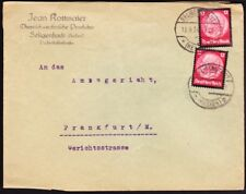 Germany - 1934 - 12 Pfennig Deep Carmine Hindenburg Memorial Issue 440 (2) Cover