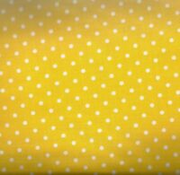 Yellow and white dots Timeless Treasures fabric