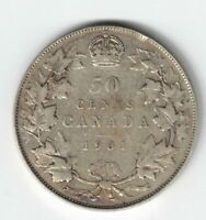 CANADA 1931 50 CENTS HALF DOLLAR KING GEORGE V .800 SILVER COIN