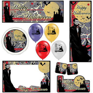 Happy Halloween Gothic Vampire Banners Decorations Balloons Party Supplies