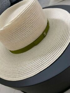 Used Very Rare !! CHANEL Straw Hat CC Size M Unused Cute !!